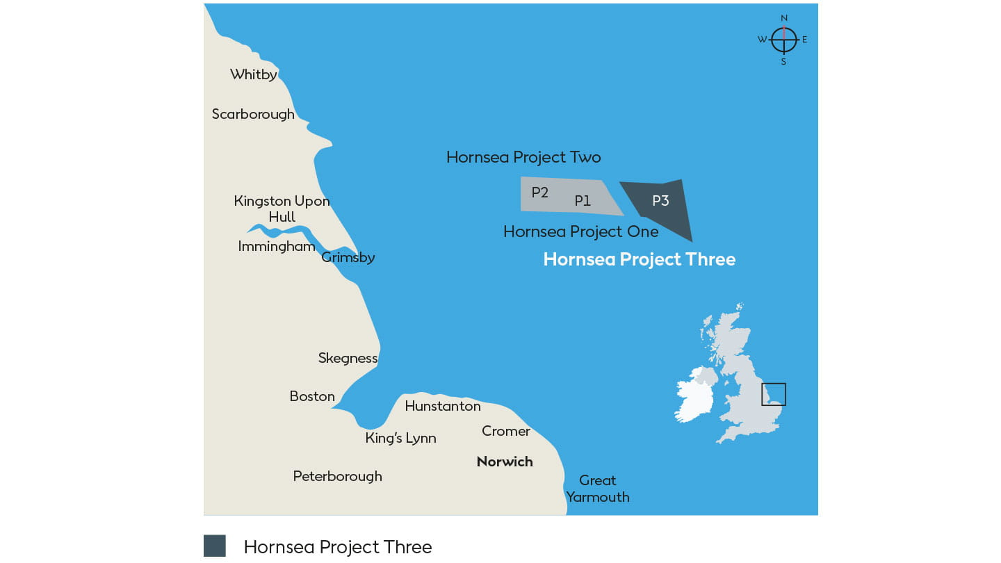 Project Map for Hornsea 3